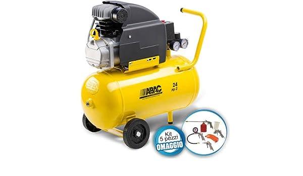 Compresor de aire de 24 litros, modelo Pole Position, con kit de 5 piezas: Amazon.es: Bricolaje y herramientas