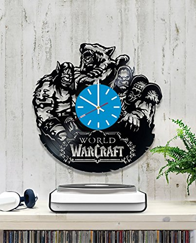 World of Warcraft Vinyl Record Wall Clock - Decorate your home with Modern Game Art - Gift for teens, friend, girls and -
