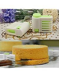 Favor 2pcs 5 Layers DIY Cake Bread Cutter Leveler Slicer Cutting Kitchen Fixator Tool reviews