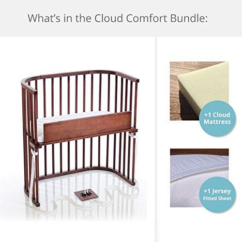 babybay Bedside Sleeper Cloud Comfort Bundle in Deep Walnut by babybay