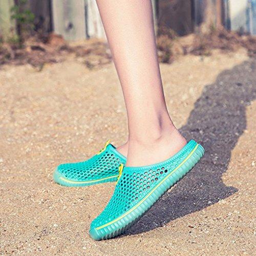 Haop Unisex Uomo Donna Scava Fuori Casual Paio Sandalo Da Spiaggia Sandalo Infradito Scarpe Verde Menta