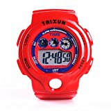 TAIXUN Student Waterproof Outdoor Sports LED Display Electronic Wrist Dress Watch with Alarm Stopwatch