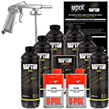 U-POL Raptor Black Urethane Spray-On Truck Bed Liner Kit w/ FREE Spray Gun, 6 Liters