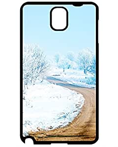 Best New Premium Case Cover For The road between snow Samsung Galaxy Note 3 case 5836266ZE379946264NOTE3