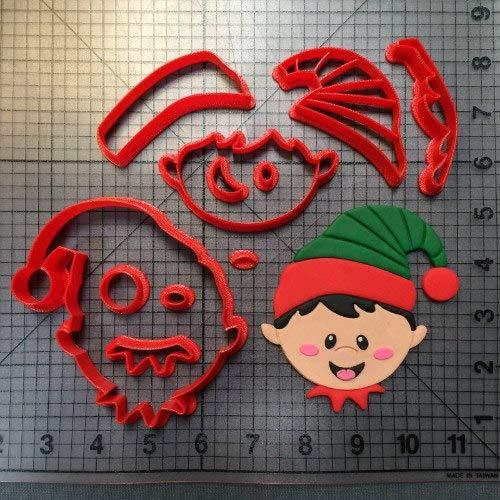エルビスクッキーカッターセット 3Dプリント フォンダン カップケーキ トップカッター クッキー型 スタンプ   B07L4WXDCZ