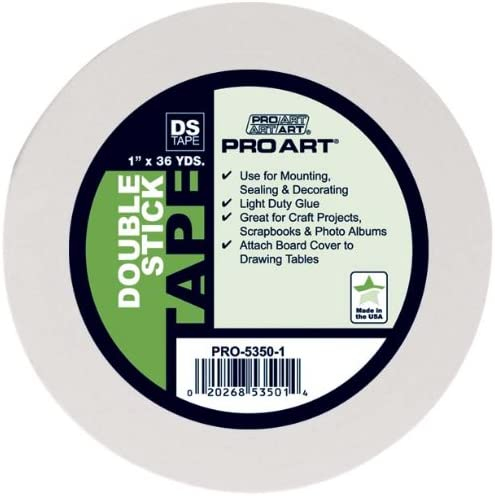 Pro Art 1//2-Inch by 36-Yards Double Stick Tape