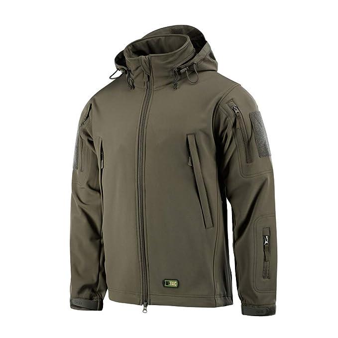M-Tac Tactical Jacket Men Soft Shell Hooded Waterproof Fleece Lined Coat