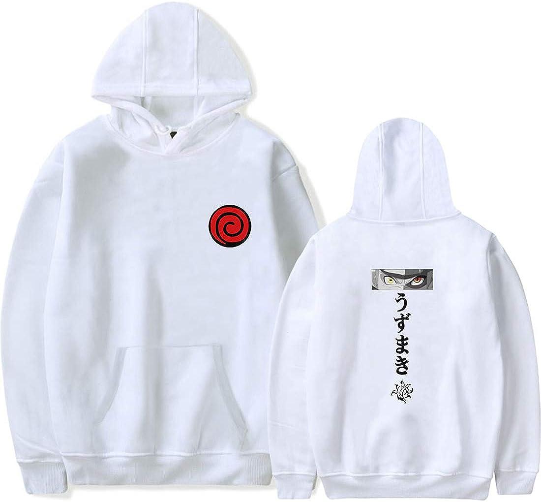 FLYCHEN Uomo Felpa con Cappuccio Uzumaki Naruto Anime Giapponese Ninjia Hokage Uchiha Syaringan Naruto Hoodie Fashion