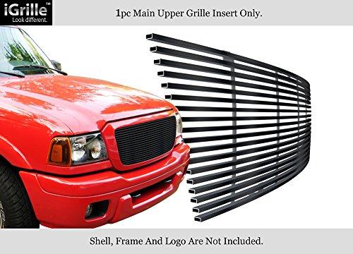 Fits 04-05 Ford Ranger All Model Stainless Steel Black Billet Grille Insert #F85237J
