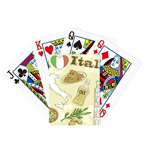 Italy Landscape The Leaning Tower of Pisa Poker Playing Cards Tabletop Game Gift by beatChong