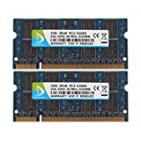 DUOMEIQI Blue New 4GB Kit(2X 2GB) DDR2 2RX8 PC2-5300S 667MHz 200pin 1.8v SODIMM Notebook RAM Laptop Memory