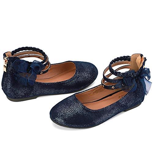 Blue Glitter Shoes For Girls - nerteo Girl's Princess Dress Shoes Ankle