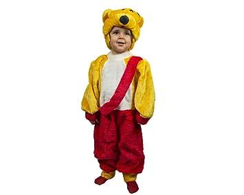 Vestido Pelele Carnaval Oso phoo Disfraz Unisex Escuela Dice Fair 6/12 Anni Rojo: Amazon.es: Juguetes y juegos