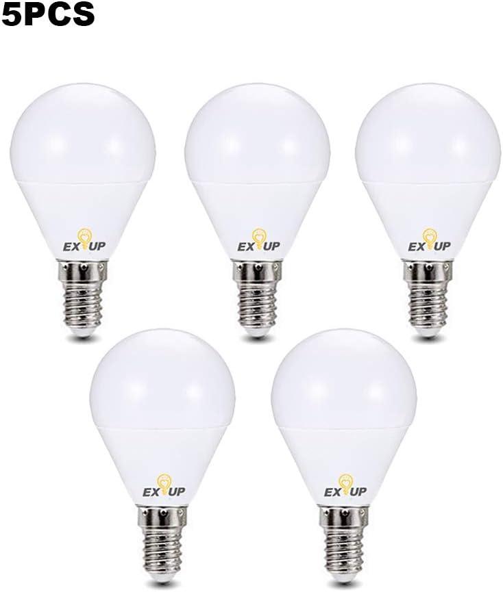 Lixada1 220-240 V LED Light Bulbs 7W E14 LED Spotlight Bulb Lamp Globe Light Bulbs Frosted LED Filament Indoor Bulb for Ceiling Lighting Warm White 5Pcs