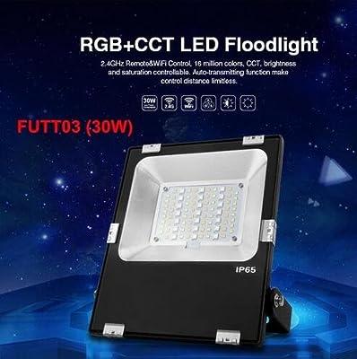 30W spotlight, China : Mi Light LED Outdoor Floodlights 10W 20W 30W 50W Spotlight RGB CCT WIFI RF Remote RGBW waterproof LED outdoor lighting AC86-265V