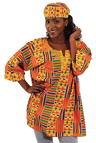 Unisex Kente Dashiki - Available in Several Kente Patterns, Kente Pattern 1 by African Inspired Fashions