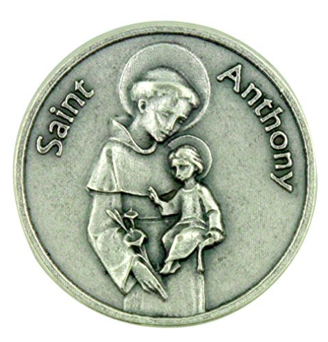 Saint of Miracles Help and Lost Articles Saint Anthony Pocket Token with Prayer ()
