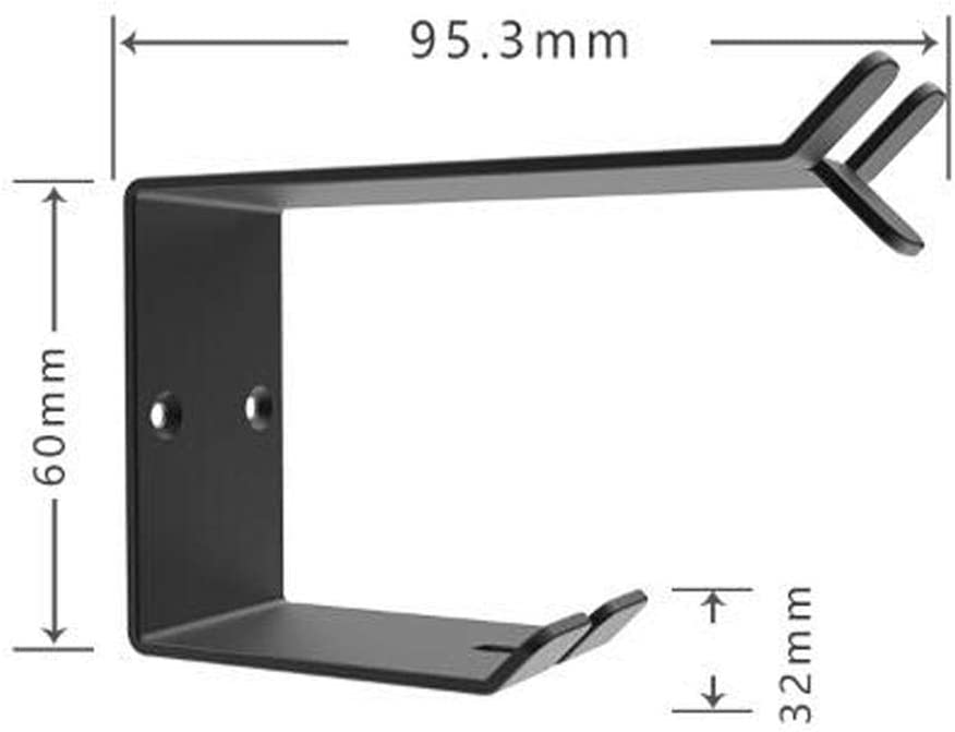 Soporte para Auriculares instalaci/ón de Soporte de Auriculares de Escritorio Soporte de Auriculares de Tipo de Pared de Goma Compatible con Gancho para Auriculares Soporte de Auriculares de Metal
