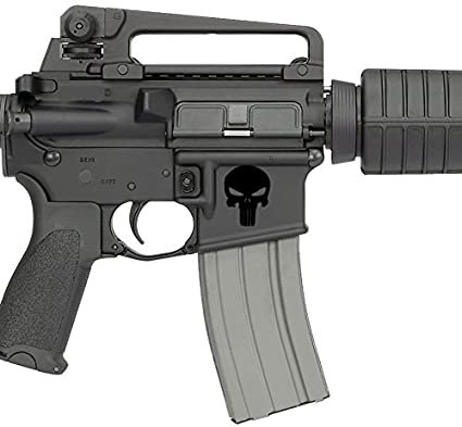 Amazon com: Punisher AR15 Lower BLACK Decal 1