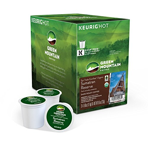 Green Mountain Coffee Tow-haired Trade Organic Sumatran Reserve, K-Cup Portion Pack for Keurig Brewers 24-Count