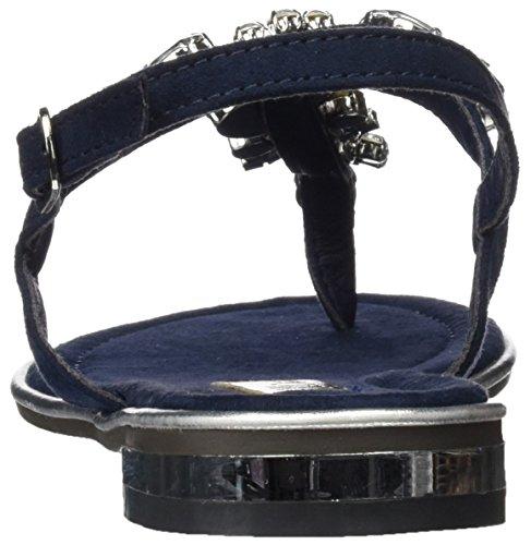 XTI 030661, Sandalias con Punta Abierta para Mujer Azul (Navy)