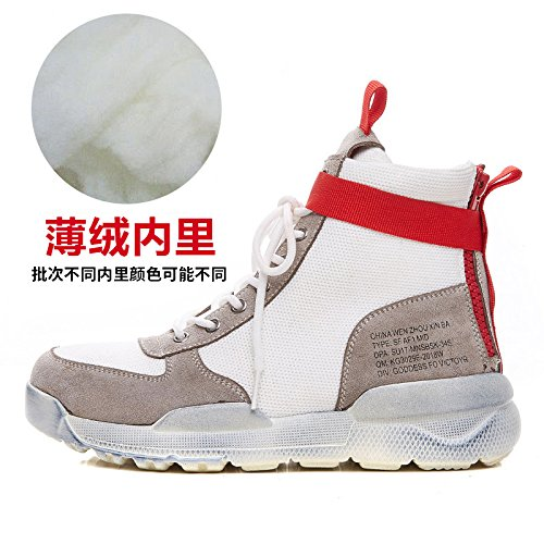 White GUNAINDMXHigh Thirty White Hop six Match All Hip Spring New Sports Shoes Cashmere Shoes 7qrw4RC7