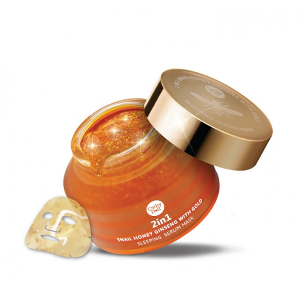 Amazon.com: Cathy Doll Secret Recipe Zoom in 2in1 Snail Honey Ginseng with Gold Sleeping Serum Mask 70g: Home & Kitchen