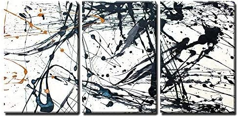 Abstract Art Creative Background Hand Painted Background x3 Panels