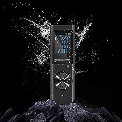 TnSok Telémetros láser Portátiles Distancia De Un Metro M/Ft/Unidad De Swith Bult-en La Batería Recargable Impermeable A Prueba De Polvo Fallproof Digital Telémetro (Color : Black, Size : A)