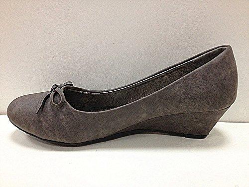 Mujeres botas con zapatos de tacón 2026 compensado, color GRIS