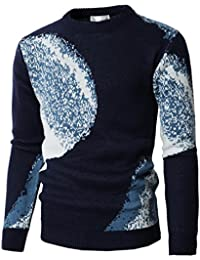 Mens Fashion Shawl Collar Pullover Christmas Sweater With Snowflake Pattern