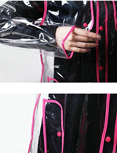 Donna pink Ouvin Transparent Giacca Impermeabile UqZCZwEx