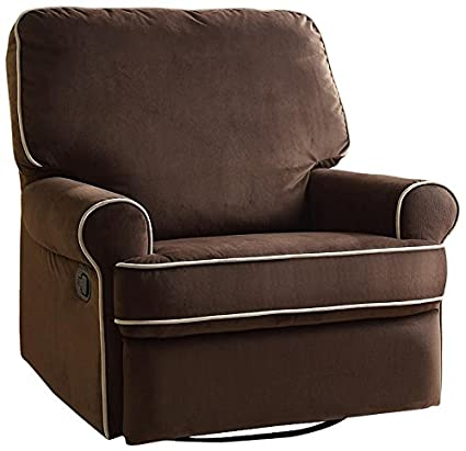 watch f983d fa78a Pulaski Birch Hill Swivel Glider Recliner, Coffee with Doe Piping