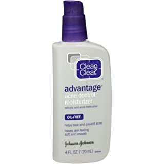 CLEAN & CLEAR ADVANTAGE Acne Control Moisturizer Oil-Free 4 oz (Pack of 2)