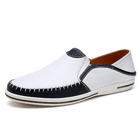 Fuxitoggo Zapatillas Slip on para Hombre con Suela Blanda Antideslizante Zapatillas de Deporte Ocasionales Mocasines (