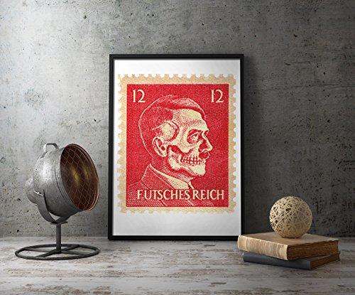 UpCrafts Studio Design WW2 anti German Propaganda Poster - WWII American anti Hitler Propaganda Posters Replica Military wall art decor
