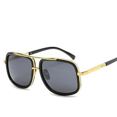 ... Lunettes de soleil en métal pour Men Women en forme de carré rétro  Marque Designer Lunettes de soleil classiques UV400 (A)  Amazon.fr  Vêtements  et ... d3eadb7ca267