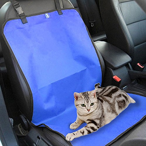 Efanr Pet Car Seat Mat Single Rear Seat Folding Waterproof Oxford Fabric Seat Back Cover Dog Cat Cushion Closely Automobile Co - pilot Car Seat Carrier Pad Good for Travel (Blue)