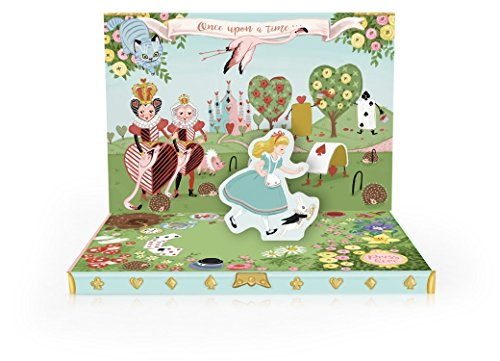 My Design Co.Music Box Card 3D Pop Out, 6 x 4.75-Inches, Adventures in Wonderland