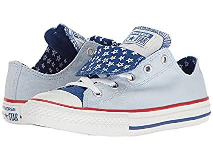 4e401837f085 Amazon.com  Converse Kids Chuck Taylor All Star Double Tongue Ox Little  Kid Big Kid Porpoise Blue White Girl s Shoes  Everything Else
