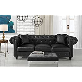 DIVANO ROMA FURNITURE Classic Living Room Bonded L...