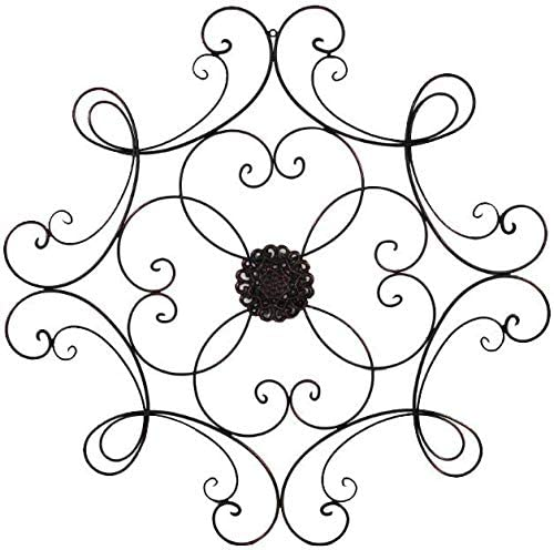 Super Z Outlet Square Scrolled Metal Wall Medallion Decor