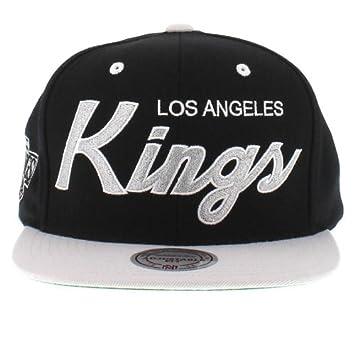hot sale online 0f5e5 a0de5 Amazon.com   Mitchell and Ness NHL Los Angeles Kings 2 Tone Team Script Snapback  Cap   Sports   Outdoors