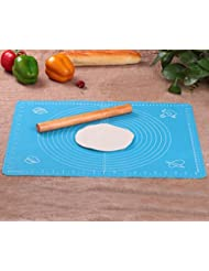 Rolling Pin & Silicon Pastry Mat,Silicone Large Pastry Mat With 19.6 x 15.7,Dough Roller Sleek and Sturdy 11.8 Perfect Match