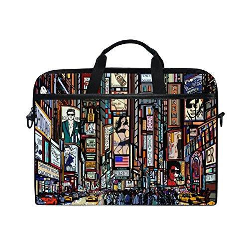 New York Slim Briefcase - YQINING New York City Laptop Bag Briefcase Shoulder Messenger Bag for Men and Women Fits 15 Inch or 15.4 Inch Laptop Tablet Computer