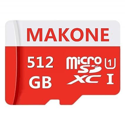 Tarjeta Micro SD de 512 GB Diseñada para teléfonos Inteligentes Android, tabletas Tarjeta de Memoria SDXC de Alta Velocidad Clase 10 con Adaptador ...