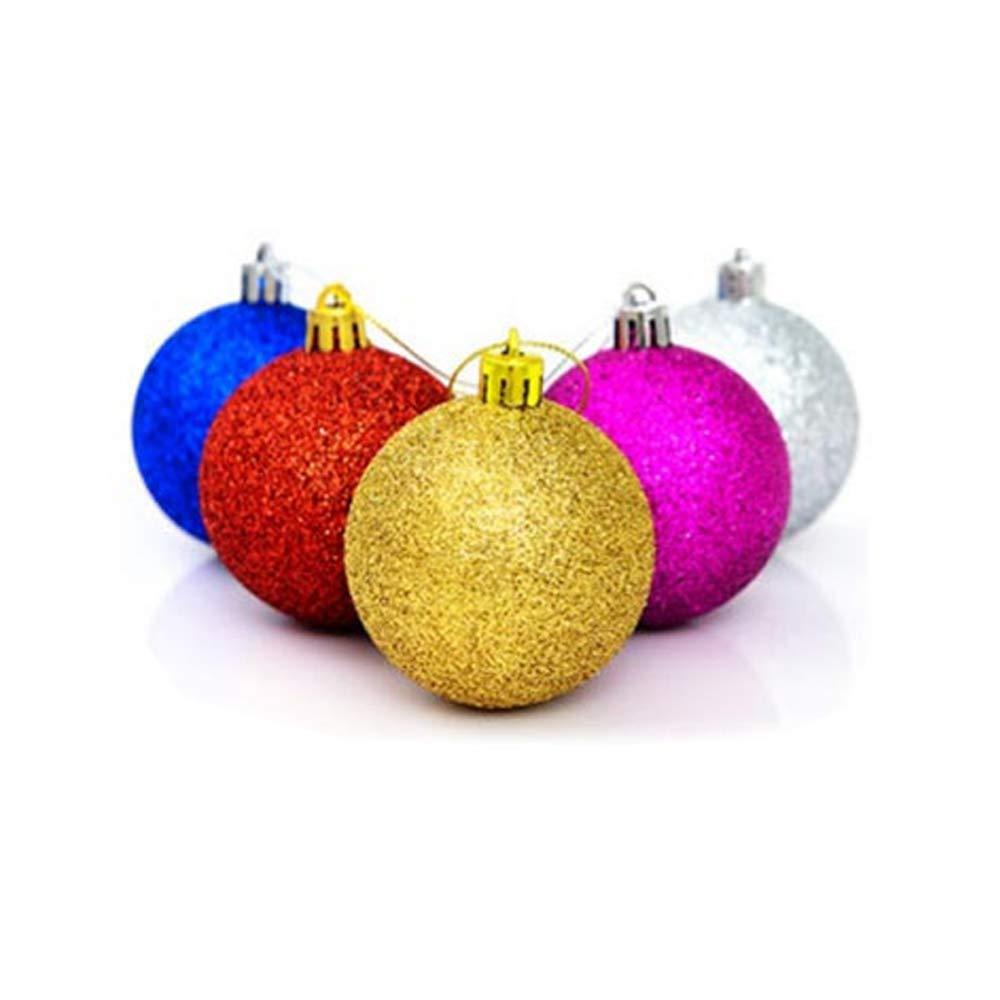 Holeider Weihnachtskugeln 24 Stü ck Christbaumschmuck Aufhä nger | Christbaumkugeln fü r den Weihnachtsbaum | Weihnachtsbaumschmuck (Gold)