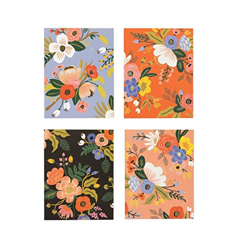 Lively Floral Assorted Notecards by Rifle Paper Co. -- Set of 8 Cards and Envelopes
