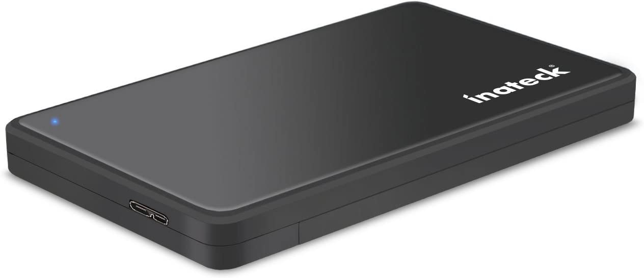Inateck 2.5 Hard Drive Enclosure, USB 3.0 External Hard Drive Case, Support UASP, Up to 5Gbps,FE2004