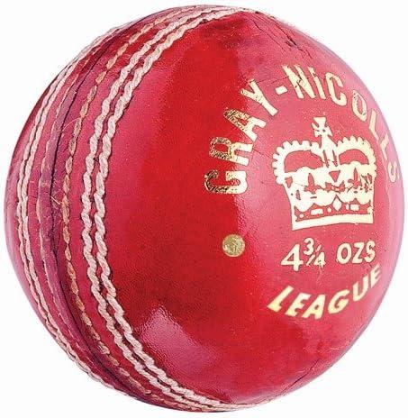 Gris Nicolls oficial Liga Cricket pelota tamaño blanco 5,5 oz ...